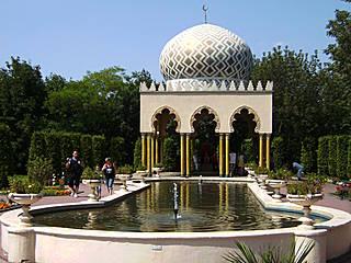 Die Gärten des Kleinen Muck im Filmpark Babelsberg.